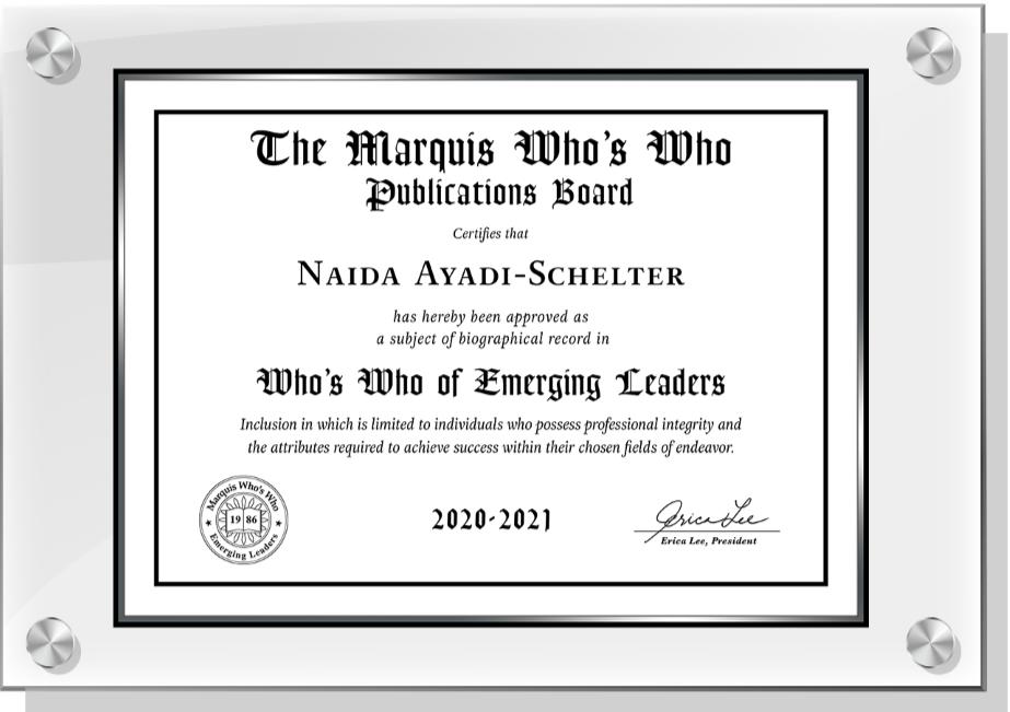 Emerging Leaders plaque